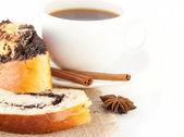 Kaffee und kuchen appetitlich — Stockfoto