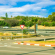 Stock Photo: Asphalted road and road signs in Israel