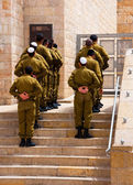 The Israeli soldiers near a western wall, Jerusalem — Stock Photo
