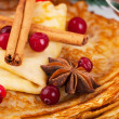 Stock Photo: Pancakes with christmas berry