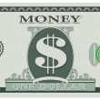 Game money - one dollar bill — Imagen vectorial