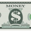 Game money - one dollar bill — Image vectorielle