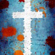 Royalty-Free Stock Photo: Grunge background with cross and spots