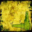 Stock Photo: Grunge background with beer bottles