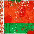 Grunge Belarus flag with stains — Foto Stock