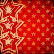 Red grunge background with stars — Foto de Stock