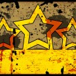 Grunge background with five stars — Stockfoto