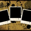 Royalty-Free Stock Photo: Three photo frames on grunge