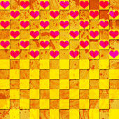 Colorful background with hearts — Stock Photo