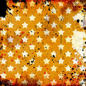 Grunge background with stars and stains — Foto de Stock