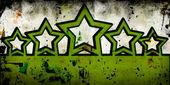 Grunge pozadí s pěti hvězdičkami — Stock fotografie