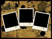 Three photo frames on grunge — Stock Photo