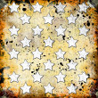 White stars on grunge background — Stock Photo