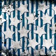 White stars on grunge background — Foto Stock