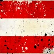 Grunge Austria flag with stains — Stockfoto