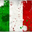 Grunge Italy flag with stains - Stock Photo