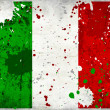 Grunge Italy flag with stains — Stock Photo