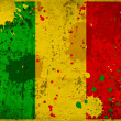 Grunge Mali flag with stains - Stock Photo