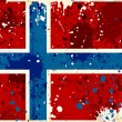 Grunge Norway flag with stains — Stock Photo