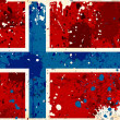 Grunge Norway flag with stains - Stock Photo