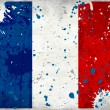 Grunge France flag with stains — Stock Photo