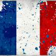 Grunge France flag with stains - Stock Photo