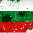 Grunge Bulgaria flag with stains — Stockfoto