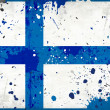 Grunge Finland flag with stains - Stock Photo