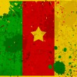 Grunge Cameroon flag with stains - Stock Photo