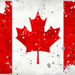 Grunge Canada flag with stains - Stock Photo