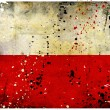 Grunge Poland flag - Stock Photo