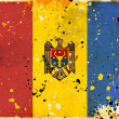 Grunge Republic of Moldova flag — Stock Photo
