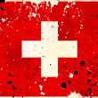 Grunge Switzerland flag with stains — Foto de Stock