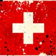 Grunge Switzerland flag with stains — Stock Photo
