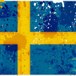 Grunge Sweden flag — Foto de Stock