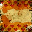 Red hearts on grunge — Stock Photo