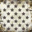 Gray stars on grunge background — Stock Photo