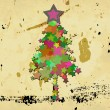 Royalty-Free Stock Photo: Grunge christmas tree