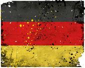 Grunge tyskland flagga — Stockfoto