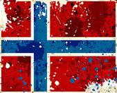 Grunge-norwegen-flagge mit flecken — Stockfoto