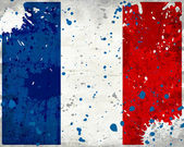 Grunge France flag with stains — 图库照片