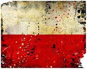 Bandeira de poland do grunge — Foto Stock