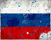 Grunge Russia flag with stains — Stock Photo