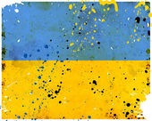 Grunge Ukraine flag — Stock Photo