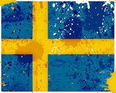 Grunge Sweden flag — Stockfoto