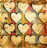 сердечки на гранж — Стоковое фото