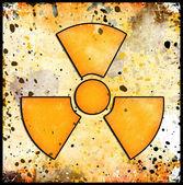 Signo de la radiación en grunge — Foto de Stock