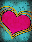 Grunge heart illustration — Стоковое фото