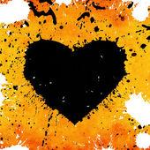 Fundo grunge com coração abstrato — Fotografia Stock