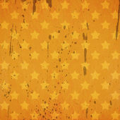 Grunge retro background with stars and stains — Stock Photo